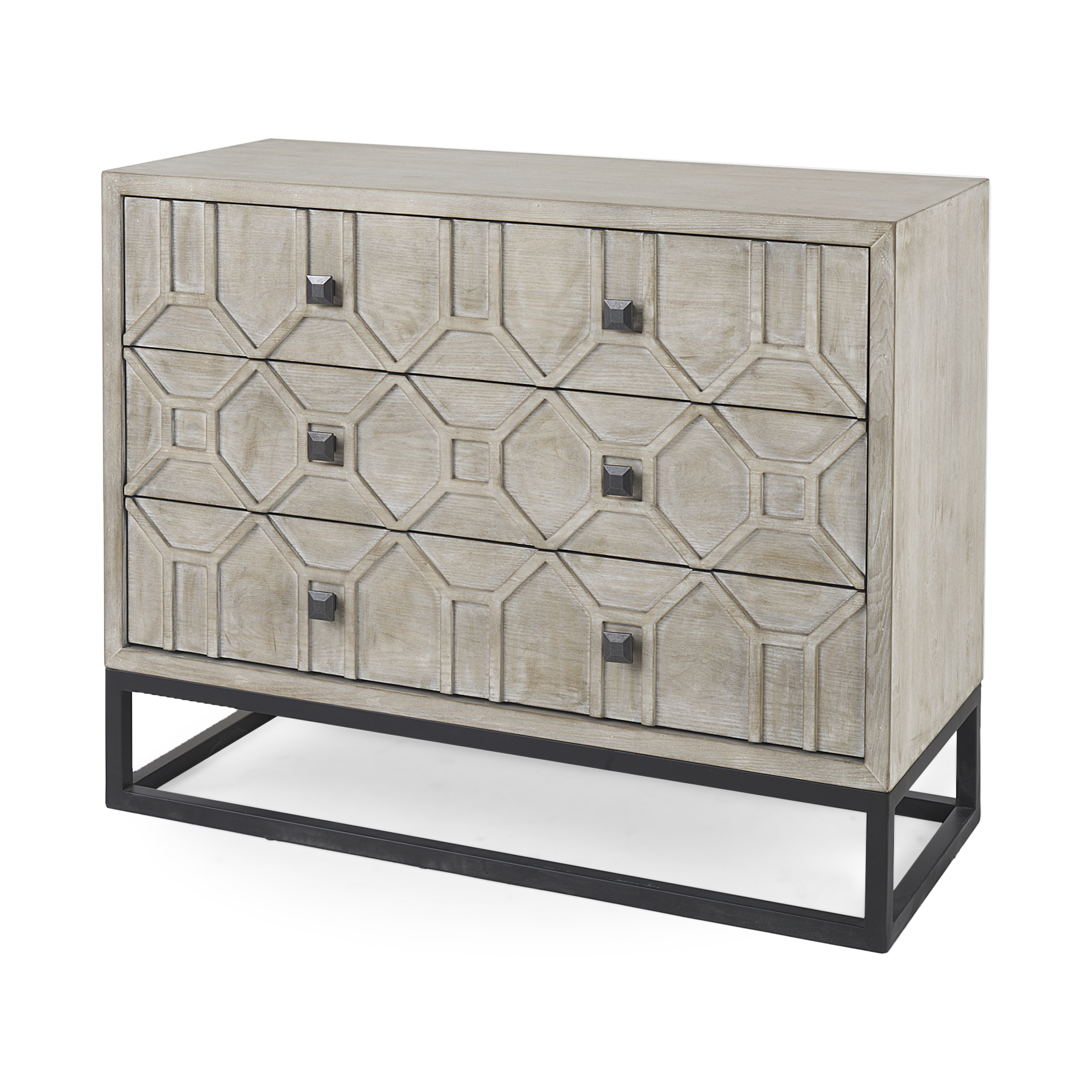Genevieve I 20L x 20W Light Brown 20 Drawer Accent Cabinet