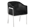 RIALTO CHAIR – BELLA BLACK FABRIC