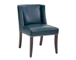 MARLIN DINING CHAIR – BLUE LEATHER
