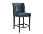 MARLIN COUNTER STOOL – BLUE LEATHER
