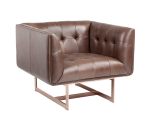 MATISSE ARMCHAIR – ROSE GOLD – SADDLE LEATHER