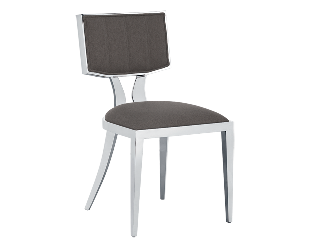 Natalia dining chair grey fabric metro element for Modern dining chairs canada