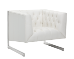VIPER ARMCHAIR – WHITE LEATHER