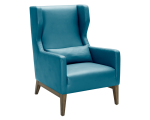 MESSINA ARMCHAIR – TURQUOISE LEATHER
