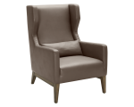 MESSINA ARMCHAIR – DOVE GREY LEATHER