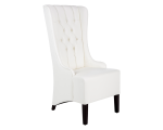 NAPA DINING CHAIR – WHITE LEATHER