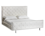 TALLAHASSEE BED – KING – WHITE LEATHER