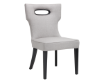 EMERSON DINING CHAIR – SILVER LINEN FABRIC