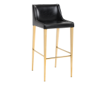 LAWRENCE BARSTOOL – YELLOW GOLD – OBSIDIAN BLACK