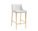 LAWRENCE COUNTER STOOL – YELLOW GOLD – ALMOND