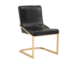 MARCELLE DINING CHAIR – YELLOW GOLD – BLACK CROC