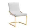 MARCELLE DINING CHAIR – YELLOW GOLD – WHITE CROC