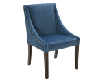 LUCILLE DINING CHAIR – INK BLUE FABRIC