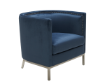 WALES ARMCHAIR – INK BLUE FABRIC