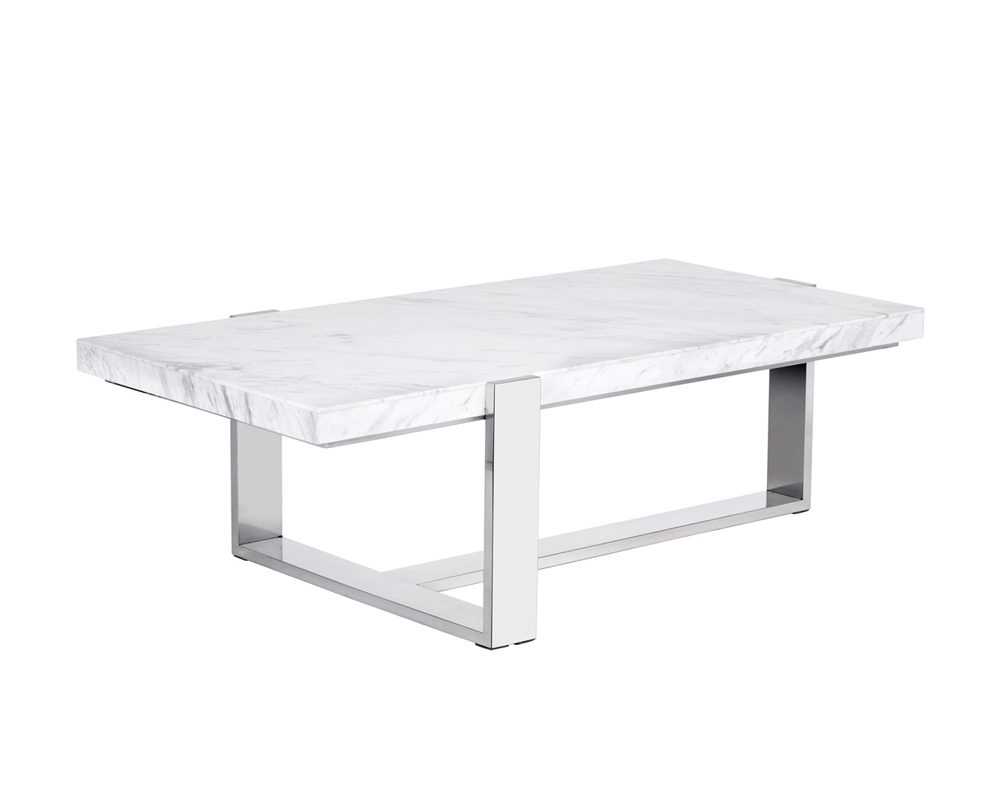 Tribecca Coffee Table Rectangular White Marble Metro