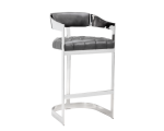 BEAUMONT BARSTOOL – GREY LEATHER