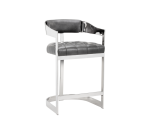BEAUMONT COUNTER STOOL – GREY LEATHER