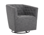 REEVES SWIVEL ARMCHAIR – QUARRY FABRIC