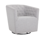 REEVES SWIVEL ARMCHAIR – MARBLE FABRIC