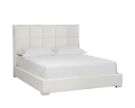 TOMPKINS BED – QUEEN – WHITE LEATHER