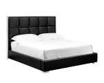 TOMPKINS BED – QUEEN – BLACK LEATHER