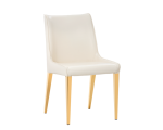 LAWRENCE DINING CHAIR- YELLOW GOLD – ALMOND