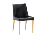 LAWRENCE DINING CHAIR – YELLOW GOLD – OBSIDIAN BLACK