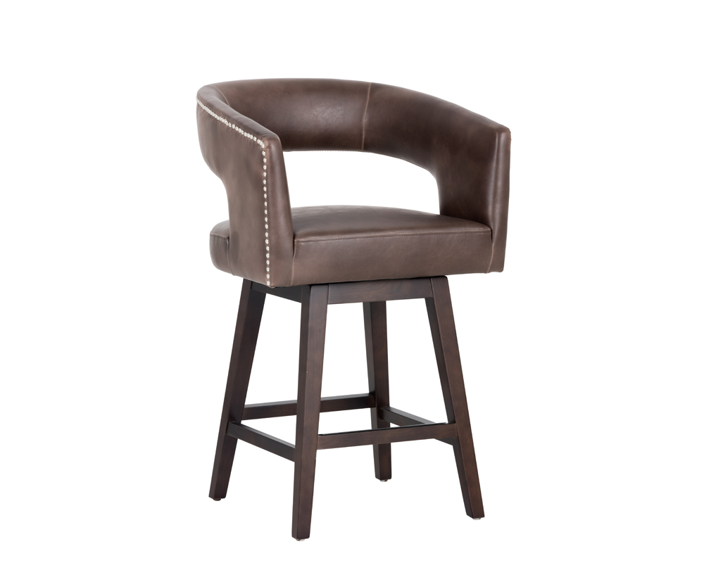 Draco Counter Stool Havana Dark Brown Metro Element