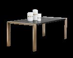 DALTON DINING TABLE – ANTIQUE BRASS – BLACK – 88.5?