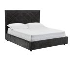 MILES BED – QUEEN – THUNDER GREY FABRIC