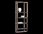 DALTON BOOKCASE – SMALL (35.5″ W) – ANTIQUE BRASS – BLACK