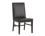 BROOKE DINING CHAIR – GREY LEATHER