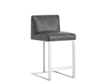 DEAN COUNTER STOOL – GREY LEATHER