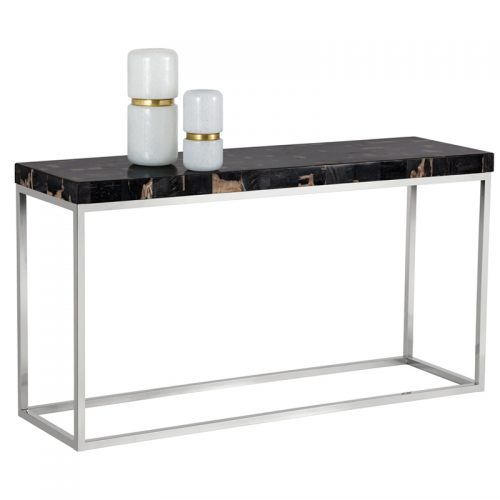 ANGELO CONSOLE TABLE – PETRIFIED WOOD