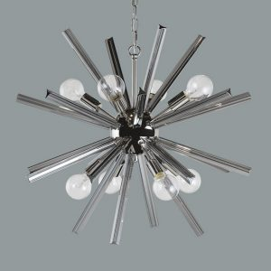 FARADAY – CHANDELIER – SMALL – SMOKE GREY GLASS
