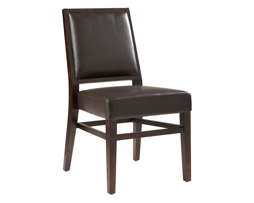 Citizen dining chair brown leather metro element for Brown leather dining chairs