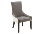VINCENT DINING CHAIR – IVORY LEATHER / PORTSMOUTH GREY FABRIC