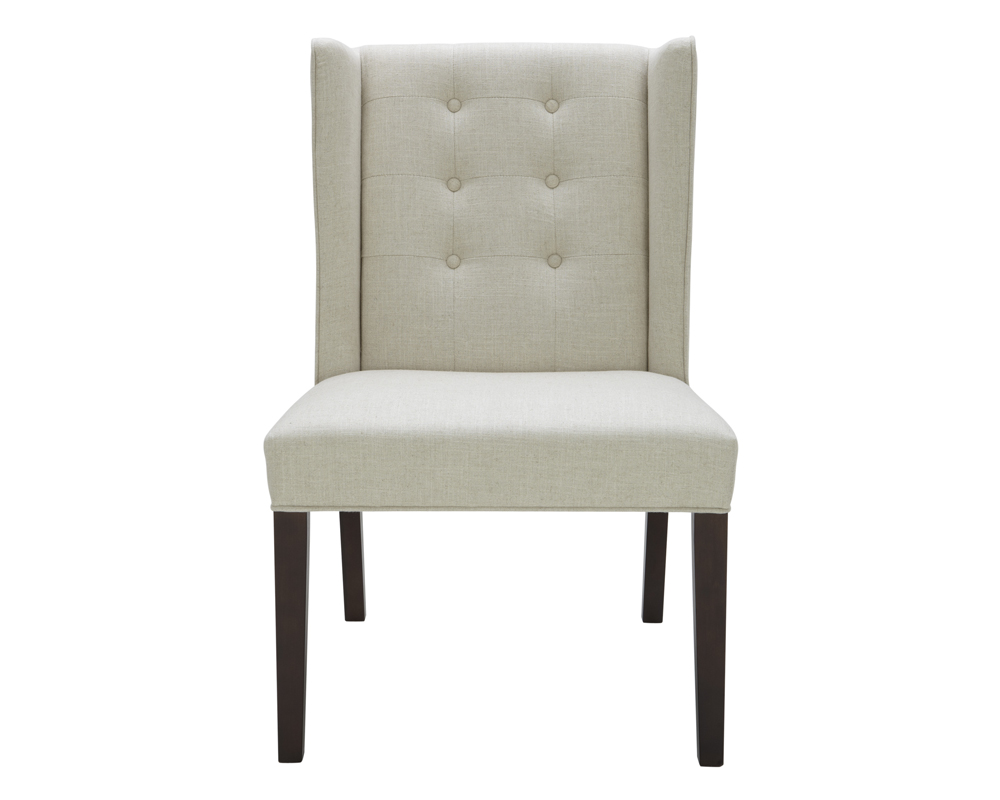 Light Gray Linen Dining Chairs: CLARKSON DINING CHAIR