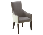VINCENT ARMCHAIR – IVORY LEATHER / PORTSMOUTH GREY FABRIC