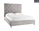 MARQUEE BED – KING – VINTAGE LINEN GREY FABRIC