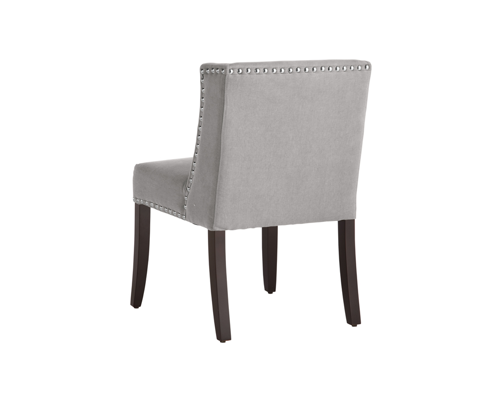 Light Gray Linen Dining Chairs: VINTAGE LINEN GREY FABRIC