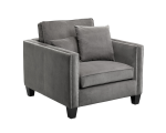CATHEDRAL ARMCHAIR – GREY FABRIC