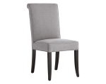 BARON DINING CHAIR – VINTAGE LINEN GREY FABRIC