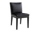 VINTAGE DINING CHAIR – BLACK LEATHER
