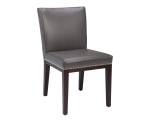 VINTAGE DINING CHAIR – GREY LEATHER