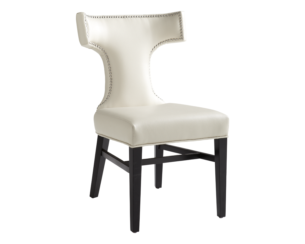 Serafina Dining Chair Cream Leather Metro Element