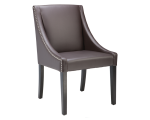 LUCILLE DINING CHAIR – BROWN LEATHER