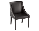 LUCILLE DINING CHAIR – BLACK LEATHER