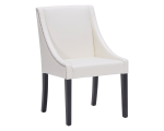 LUCILLE DINING CHAIR – IVORY LEATHER