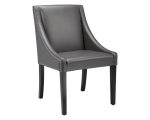 LUCILLE DINING CHAIR – GREY LEATHER